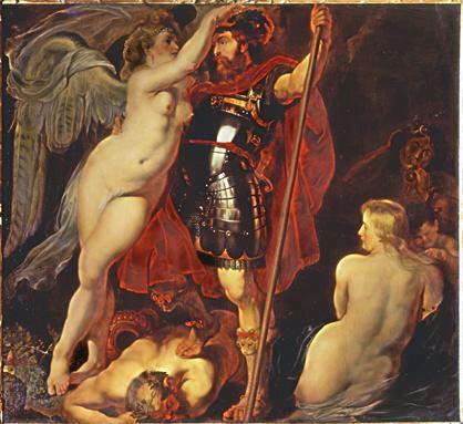RUBENS - Le Triomphe de la vertu (1620)